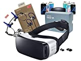 Samsung Galaxy 3D Gear VR (2015) by Oculus with Level Active Wireless Headset for - S6/S6 Edge/S7/S7 Edge/Note5 (Retail Packing Kit)