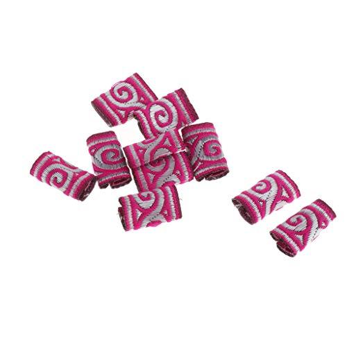 MERIGLARE 10 Sortes Colorées Dreadlock Perles Anneaux De Cheveux Tresses Bracelet Pendentifs Charmes - 02