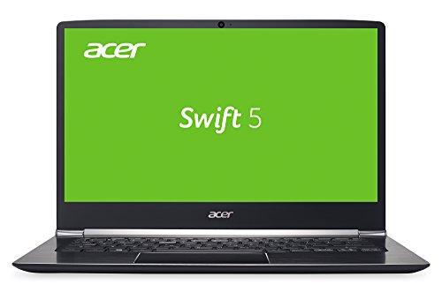 Acer Swift 5 (SF514-51-77WD) 35,6 cm (14 Zoll Full-HD IPS) Ultrabook (Intel Core i7-7500U, 8 GB RAM, 256 GB SSD, Intel HD, HDMI, USB 3.1 Type-C, SD Kartenleser, HD Webcam, Win 10 Home) schwarz
