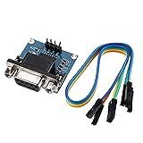 Módulo electrónico 50pcs DC 5V MAX3232 MAX232 RS232 a TTL serie Convertidor de Comunicaciones Módulo Con cable de puente Geekcreit Equipo electrónico de alta precisión
