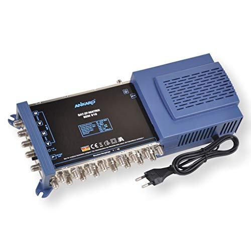 ANKARO Multischalter SEM 5/16 für den Empfang Einer Satellitenposition an bis zu 16 Teilnehmer / 4K, 3D, UHD tauglich/Quattro und Quad LNC geeignet