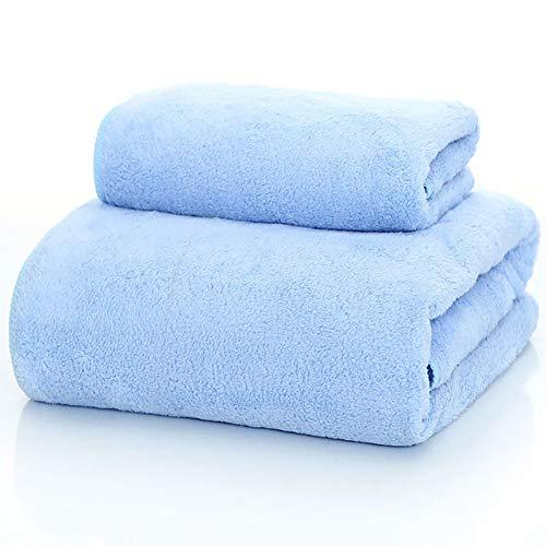 WJJS Calidad Microfibra Juego De Toallas,Toallas De Piscina Soft,De Secado Rápido, Uso Diario Azul 70x140cm