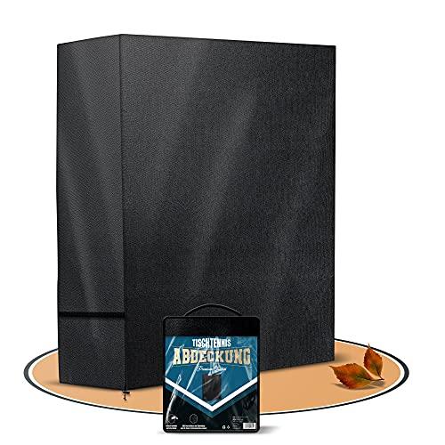 Magona ǀ Profi Tischtennisplatte Abdeckung – 600D Oxford Material – Wasserdicht, UV Schutz & witterungsbeständig – [165x70x185] – Tischtennisplatte Schutzhülle