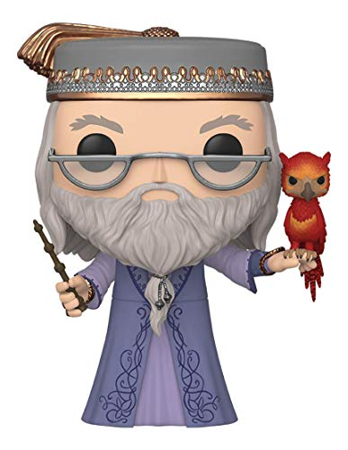 Funko- Pop Harry Potter: 10' Dumbledore w/Fawkes S10 Figura Coleccionable, Multicolor (48038)