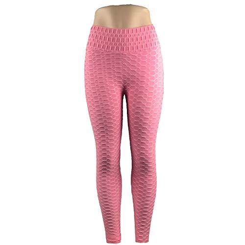 Dames patroon gedrukt panty leggings joggingbroek sportlegging yoga broek fitness panty X-Large roze