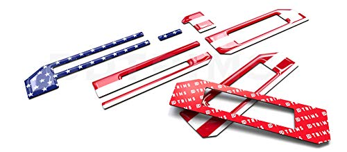 BDTrims Domed 3D Raised Tailgate Letters Compatible with 2018-2020 F-150 Models (USA Flag Reflective)