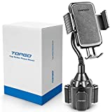 TOPGO カップホルダー電話マウントユニバーサル調節可能なグースネックカップホルダークレードルカーマウント 携帯電話iPhone XS/XSマックス/X / 8月7日プラス/ギャラクシー ために[アップグレード] 11.7イン ブラック