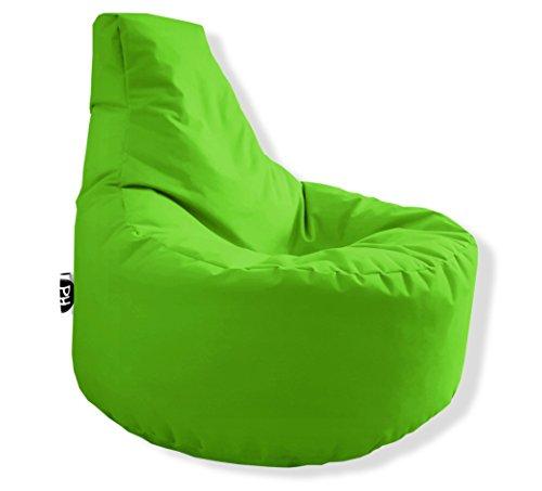 Patchhome Gamer Kissen Lounge Kissen Sitzsack Sessel Sitzkissen In & Outdoor geeignet fertig befüllt   Kiwi - Ø 75cm x Höhe 80cm - in 2 Größen und 25 Farben
