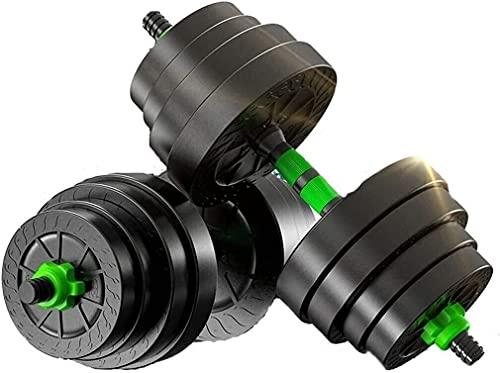N/Z Inicio Equipo Mancuernas Conjunto de Pesas Suge con Mancuernas Equipo para el hogar de Fitness para Hombres Tuerca de Seguridad Doble Conector de 10/15/20 kg Mancuernas de Rueda silenciosa