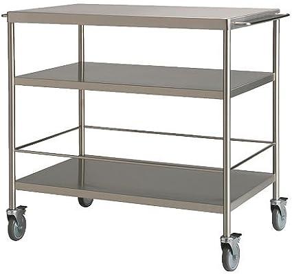 Ikea Flytta Kitchen Trolley Stainless Steel 98x57 Cm Amazon Co Uk Home Kitchen