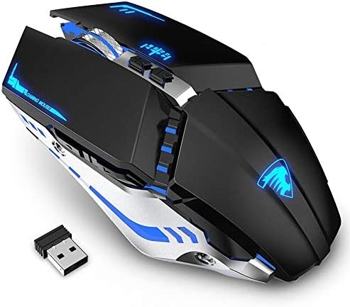 TENMOS T12 Wireless Gaming Mouse Rechargeable 2 4G Silent Optical Wireless Computer Mice with product image
