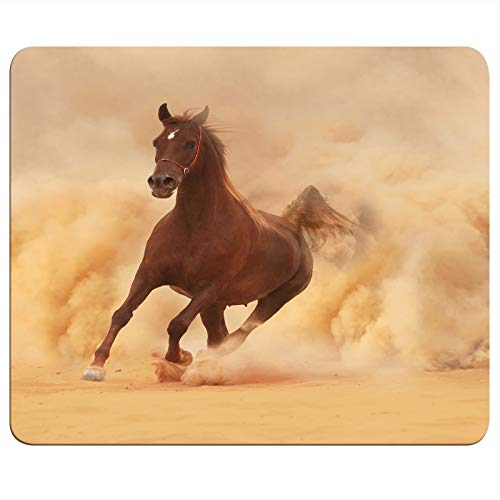 IBILIU Galloping Horse Gaming Mouse Pads,Computer Keyboard Mouse Mat Desk Pad with Non-Slip Base and Stitched Edge for Home Office Gaming Work,9.5×7.9 Inch