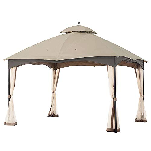 MASTERCANOPY Gazebo 12' x 10' Cabin-Style Soft Top Gazebo Top for Model L-GZ933PST Beige(only Roof) (Beige)