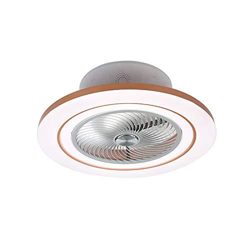 YIYUN Led Ventilador Techo con Luz Y Bluetooth Lamparas Ventilador De Techo Silencioso con Mando Distancia con Temporizador Dormitorio Sala Ventilador De Techo con Luz