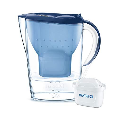 BRITA, Carafe Filtrante, Marella, 2.4L, 1 Cartouche Filtrante MAXTRA+ incluse - Bleu