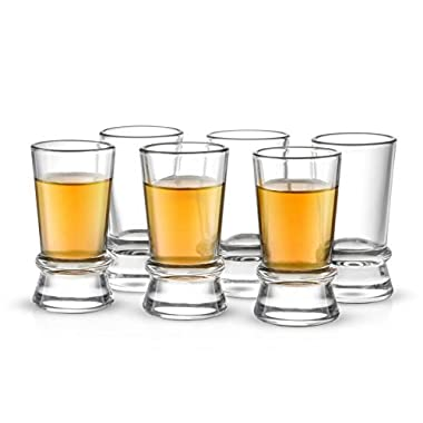 JoyJolt Afina Collection 6-Pack Heavy Base Shot Glass Set, 1.5-Ounce Shot Glasses