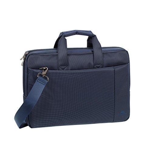 """RIVACASE Laptoptasche bis 15.6"""" – Kompakte Tasche mit zusätzlich gepolsterten Notebookfach & viel Stauraum – blau"""