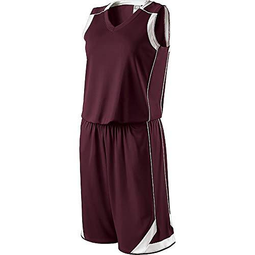 Holloway - Basketball-Shorts für Damen in Dunkelbraun/Weiß, Größe L