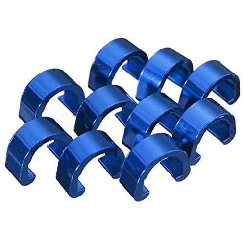 Parti Freno della Bici, Tubo Housing MTB BMX della Strada della Bici di Montagna della Bicicletta C-Clip Fibbia Cavo Guide Freno (Colore : Blue)