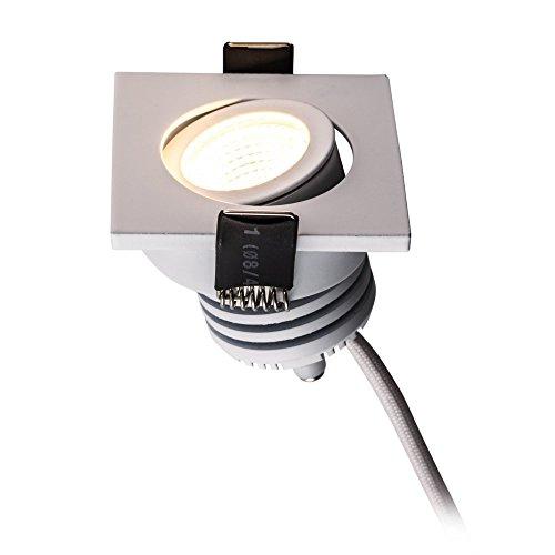 Heitronic LED Einbaustrahler 48W eckig weiß lackiert warmweiß mit 300mm