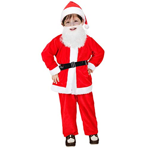 Kids Christmas Santa Claus Costumes for Toddlers Boys Santa Suits Girls Children's Costumes (4-6 Years, Bright Red)