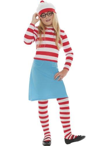 Para niños ropa de descanso para niñas 5 piezas En las que se la día de tipo libro está Wally Wenda vestido de manga larga con Waldo Fancy inc disfraz agenda de medias y (10-12 años) vasos de