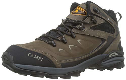 CAMEL Botas de Senderismo para Hombres Zapatillas de Escalada Confortables Antideslizantes y Resistentes al Desgaste Zapatos de Nobuk para Trekking Caminar Correr al Aire Libre