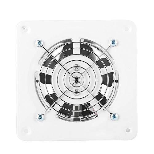 4-Inches Window Cooling Fan,25W 220V Window Fan,Bathroom Window Exhaust Fan with Shutters,White Square Wall-Mount Exhaust Fan,for Home Bathroom,Kitchen ,Garage,etc.