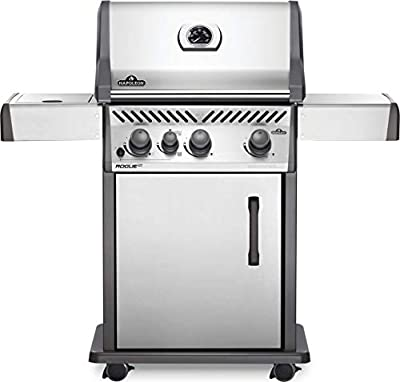 Napoleon RXT425SIBNSS-1 Rogue XT 425 SIB Gas Grill, sq. in + Infrared Side Burner, Stainless Steel