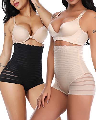 SLIMBELLE Mutande a Vita Alta Contenitive Donna Guaina Modellante Panciera Snellente Body Pantaloncini Pancia Piatta Slip Thong Dimagrante