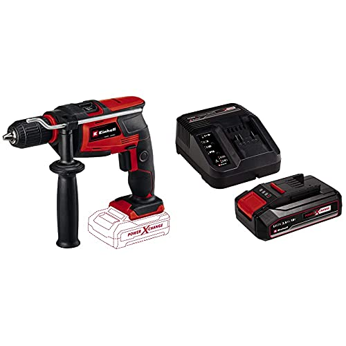 Einhell Cordless Impact Drill TC-ID 18 Li Solo Power X-Change - Supplied with 2.5Ah Battery and Charger Starter Kit