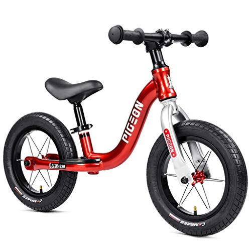 Review WYFDM Children's Balance Car Without Pedal Bicycle, 2-6 Year Old Child Scooter, Baby Yo Car Slide Car, Competitive Balance Car, 2 Palin Drum, Ultra Light Tire,Red,12