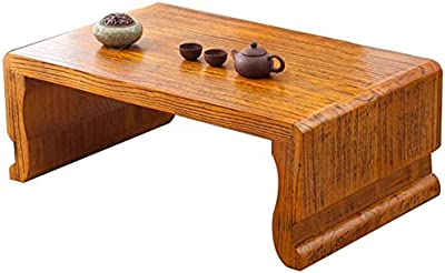 Selected Furniture/Small Coffee Table Living Room Solid Wood Coffee Table Piano Table Calligraphy Table Floor Tea Table Balcony Tatami Coffee Table (Color : Light Brown, Size : 70 * 45 * 30cm)