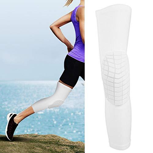 FOLOSAFENAR Equipo de protección de 3 tamaños de Rodillera Celular Transpirable, para Deportes al Aire Libre, para Baloncesto(White Square Knee Pad-M)