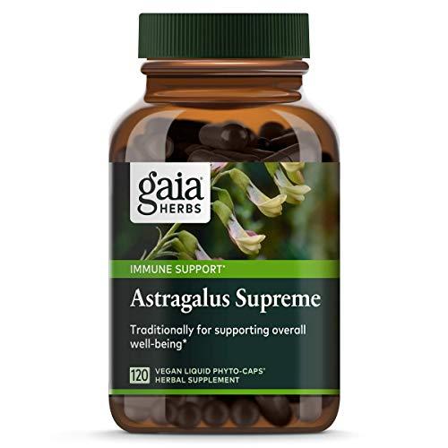Gaia Herbs Astragalus Supreme, Vegan Liquid Capsules, 120Count - Deep Immune Support & Stress Resistance, With Antioxidants
