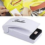 Elvoo Mini sellador del bolso, portátil de mano eléctrico prensa de alimentos sellador plástico del sellador de calor máquina de embalaje con la base magnética instantánea de calor sellador práctico d