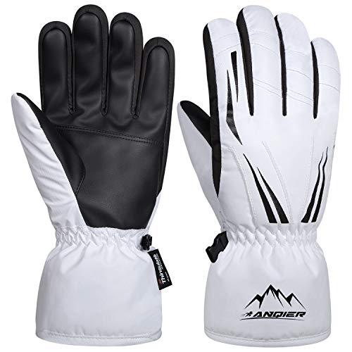 coskefy Handschuhe Männer Frauen Winter (Weiß, S)