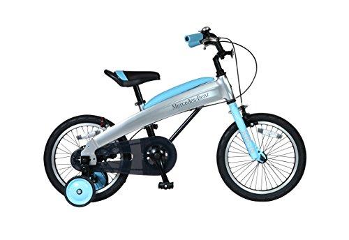 [ 組立済み ] Mercedes-Benz(メルセデス・ベンツ) 子供用自転車 16インチ MB-16 ライトブルー 16型【完成組...