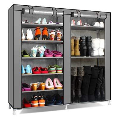 Zapatero de almacenamiento para muebles de hogar, color sólido, doble fila, zapatos, armario, organizador de estantes de gran capacidad (color: 6)
