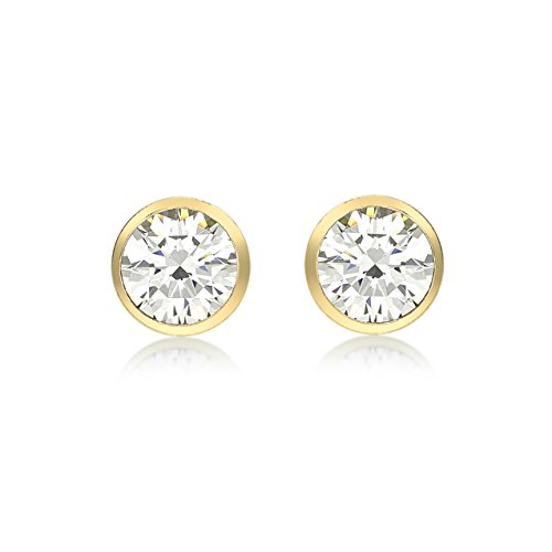 Carissima Gold 9 ct Yellow Gold Cubic Zirconia 5.8 mm Stud Earrings