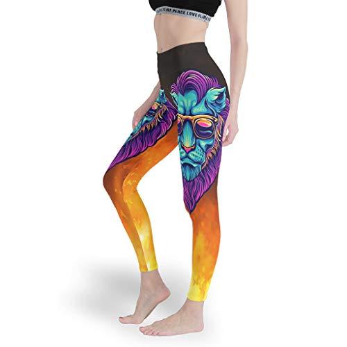 Toomjie Yoga Broek vrouwen 4 Way Stretch Yoga Leggings Leeuw Tijger Luipaard Gedrukt Sport Yoga Capris