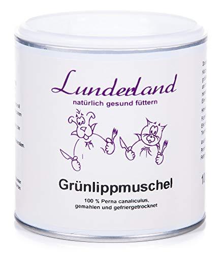 Lunderland Grünlippmuschel für Hunde, Katzen und Pferde, 1er Pack (1 x 100 g)