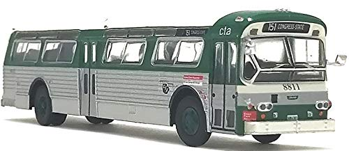 Flxible Fishbowl Bus 1/87 Scale-HO Scale CTA Chicago Transit Iconic Replicas New!