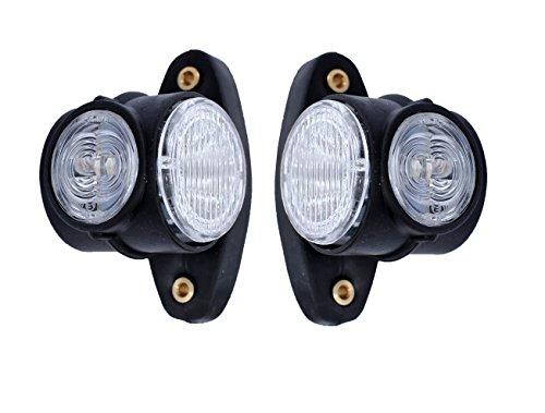 2x 24V LED Seitenmarkierungsleuchten Hochwertig Begrenzungsleuchten Positionsleuchten Gelb Rot Weiß LKW Anhänger Neu