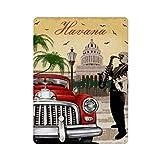 Cartel retro de la Habana (68) Cartel de cartel de pared de hojalata Cartel de pared de metal de hierro Decoración de pared de aluminio Placa de decoración Cafe Bar 30x40cm
