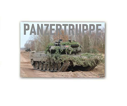 Copytec Poster M&N Panzertruppe Bundeswehr Plakt Werbung Leopard Leo2A7 ab30x20cm#30296, Farbe:Mehrfarbig, Poster Größen 8:60x40 cm
