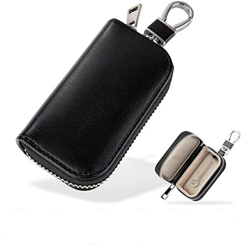 Smart Key Case, Relay Attack Prevention, Radio Blocking Pouch, Radio Wave Blocking Case, For Smart Keys, Key Holder, Men's, Key Case, Relay Attack Protection Goods, Car Theft Prevention, Cover Type, Car Keys, Blocking Pouch, Key Cover, Pure Black)