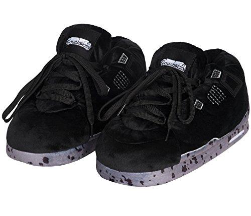 Coucharmy Jay Four Hausschuhe Home Sneakers (S-XL) (XL=44-46, Schwarz/Grau)
