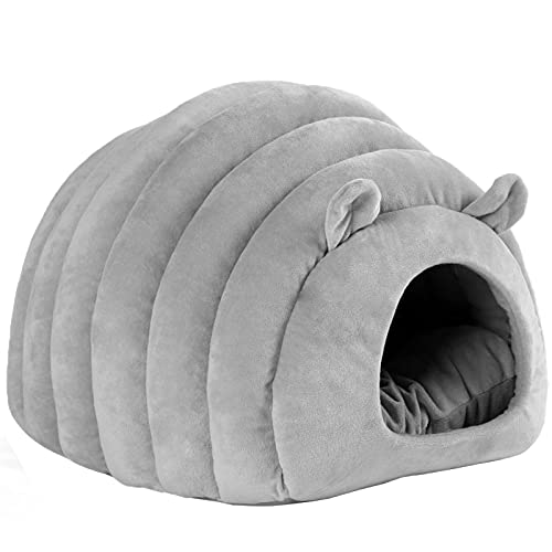 N\C Tienda de Mascotas semicerrada Cama Suave para Gatos en Invierno, Camiseta para Gatos