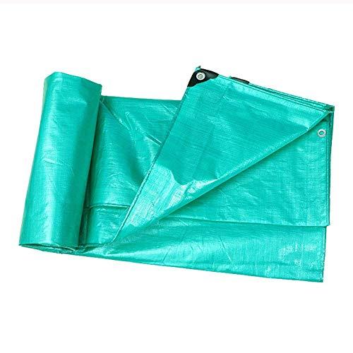 WZF Toldo Impermeable Resistente a la Lluvia con toldo Impermeable de plástico Perforado Toldo Protector Solar - 180 g / M2, Verde (tamaño: 8 MX 10 m)